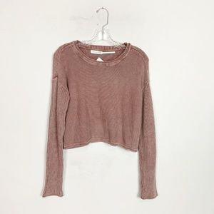 Urban Outfitters | cropped ribbed knit sweater M